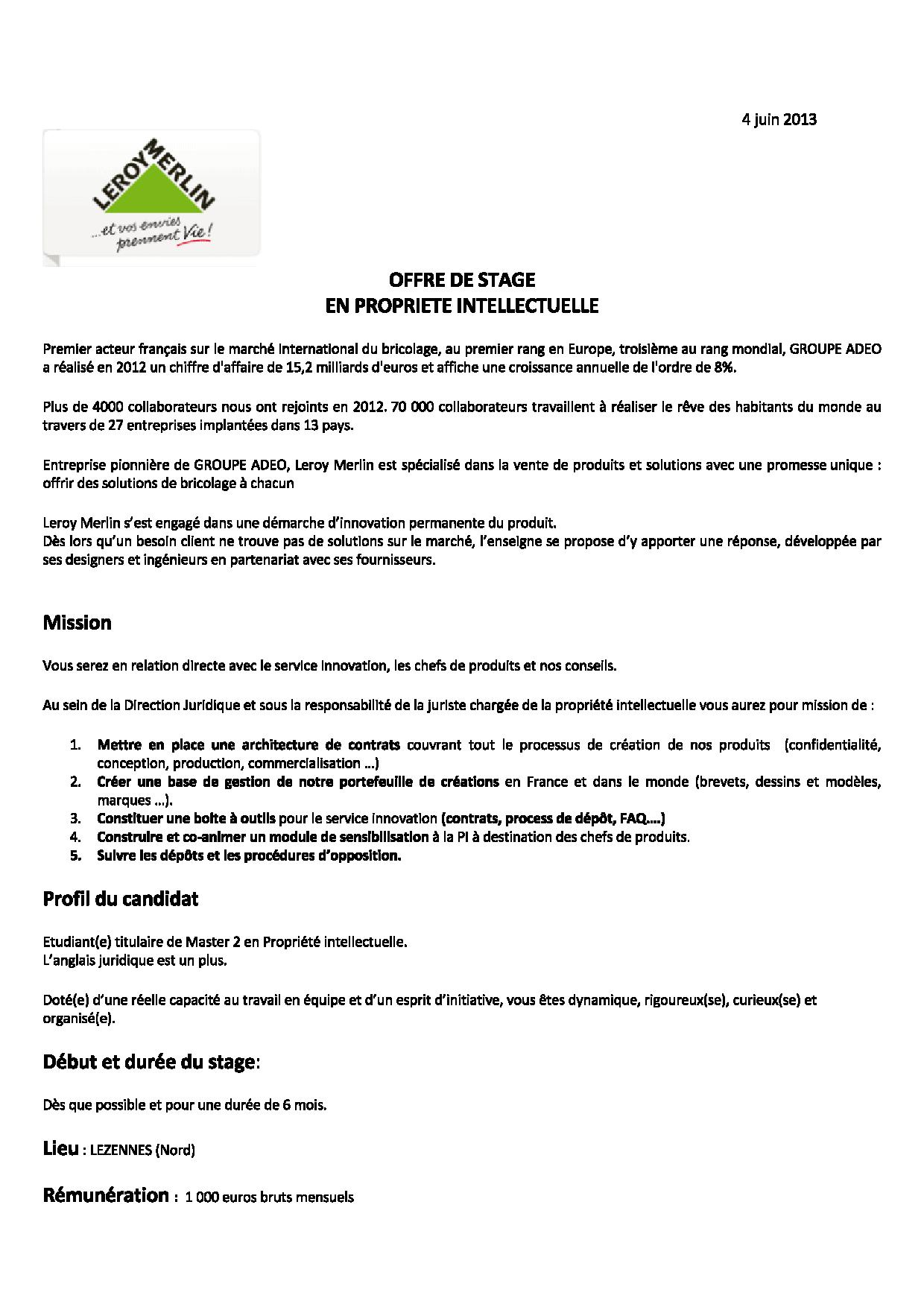 Lettre De Motivation Menuisier Bois - lettre de motivation stage juriste droit social Document Online