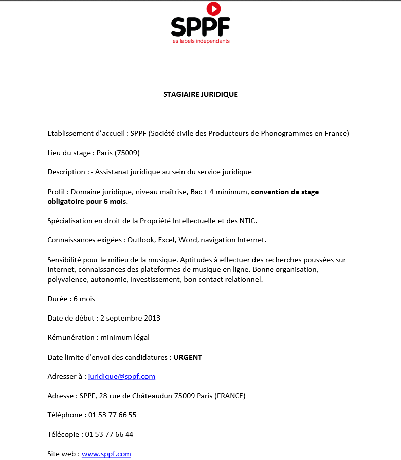 modele lettre de motivation stage ppi document