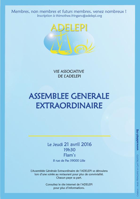 Assemblee Generale Extraordinaire 2016 Sur Notre Blog